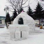 明日の「新得駅前冬まつり」に向けて
